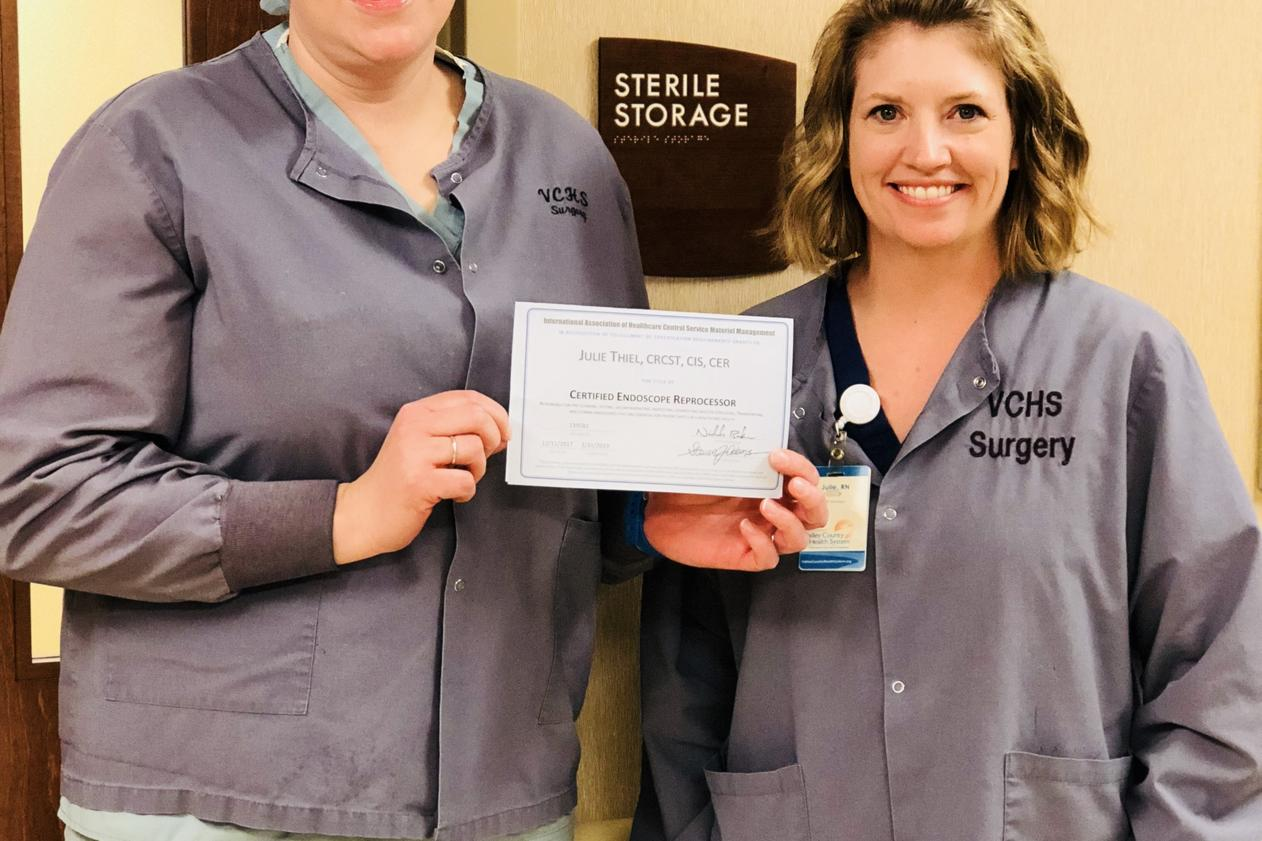 Latest news valley county health system thiel earns certified endoscope reprocessor certification 1betcityfo Choice Image